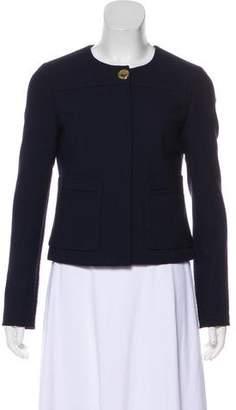 Tory Burch Zip-Up Wool Blazer