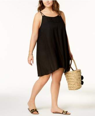 Raviya Plus Size Crochet-Inset Cover-Up Dress