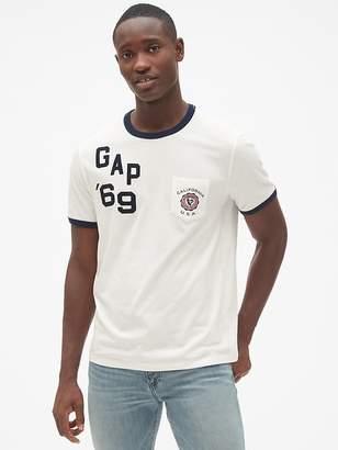 Gap Logo Graphic Indigo Short Sleeve T-Shirt