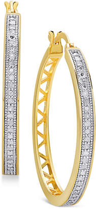Townsend Victoria Diamond Openwork Hoop Earrings (1/4 ct. t.w.) in Sterling Silver, 18K Gold-Plated Sterling Silver, and 18K Rose Gold-Plated Sterling Silver