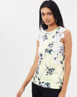 Dorothy Perkins Ruffle Trim Shell Top