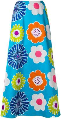 Talbot Runhof floral maxi skirt