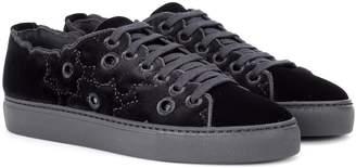 Simone Rocha Velvet low-top sneakers
