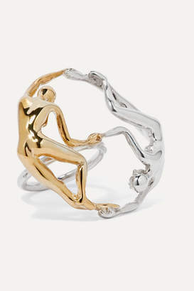 Paola Vilas - Dança Silver And Gold-plated Ring