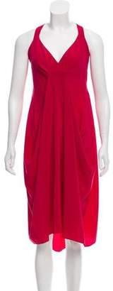 Donna Karan Silk Sleeveless Midi Dress