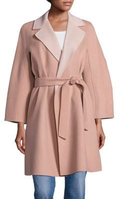Weekend Max Mara Key Doppio Wool Wrap Coat $975 thestylecure.com