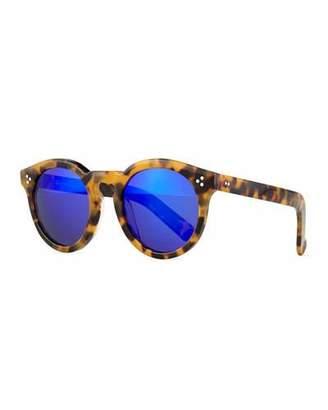 Illesteva Leonard II Round Sunglasses, Brown