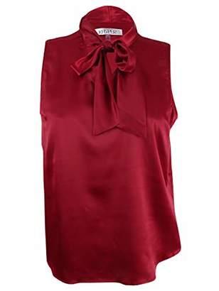 Kasper Women's Petite Size Charmeuse Tie Neck Cami