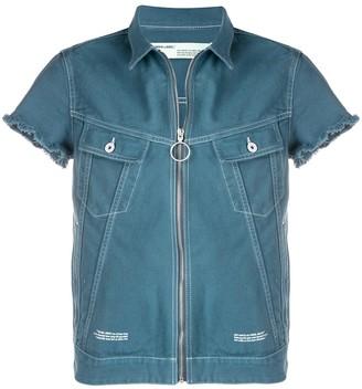 Off-White zip-front denim shirt