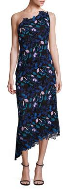 Laundry by Shelli Segal PLATINUM One-Shoulder Floral Lace Dress $795 thestylecure.com