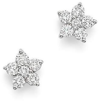 Bloomingdale's Diamond Flower Small Stud Earrings in 14K White Gold, 0.40 ct. t.w. - 100% Exclusive