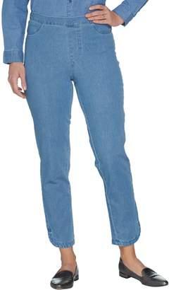 Isaac Mizrahi Live! Petite 24/7 Denim Pull-On Ankle Jeans