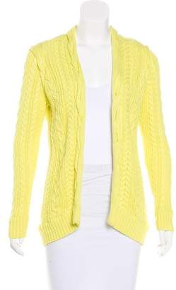 Magaschoni Open Front Cable Knit Cardigan