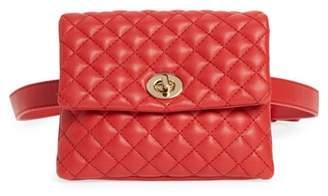 MALI AND LILI Mali + Lili Quilted Vegan Leather Convertible Belt Bag