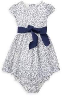 Ralph Lauren Baby Girl's Two-Piece Floral Cotton Dress& Bloomers Set