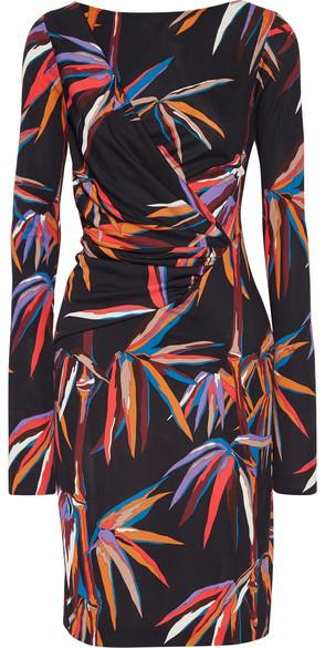 Emilio Pucci - Printed Stretch-jersey Dress - Black