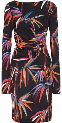 Emilio Pucci - Printed Stretch-jersey Dress - Black $1,420 thestylecure.com