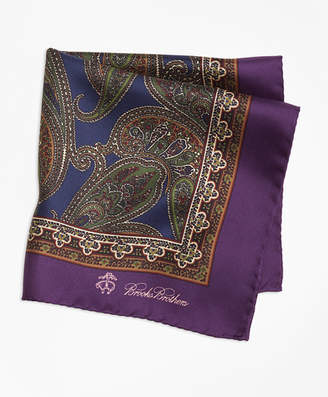 Brooks Brothers Paisley Pocket Square