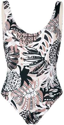 Fisico tropical print swimsuit