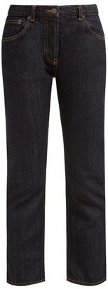 The Row Ashland Selvedge Denim Straight Leg Jeans - Womens - Dark Blue