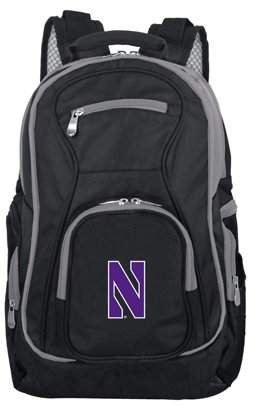 NCAA Mojo Licensing Northwestern Premium Laptop Backpack with Colored Trim