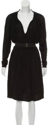 Lanvin Belted Gathered Dress