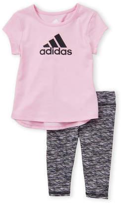 bc458bb1 adidas Toddler Girls) Two-Piece Athletic Tee & Pants Set
