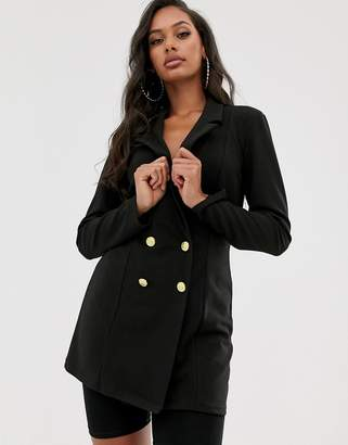 Asos Design DESIGN double breasted blazer with military buttons