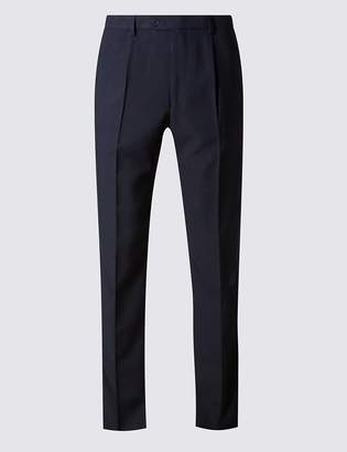 M&S CollectionMarks and Spencer Regular Fit Single Pleated Trousers