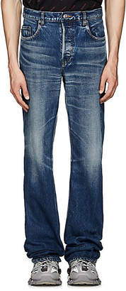 Balenciaga Men's Distressed Flared Jeans - Lt. Blue