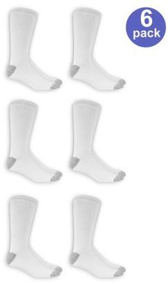 Athletic Works Men's Big and Tall Crew Socks 6 Pack