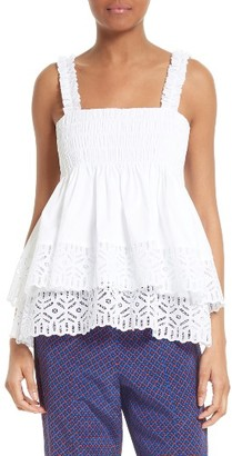 Women's Tory Burch Georgette Stretch Cotton Tank $295 thestylecure.com