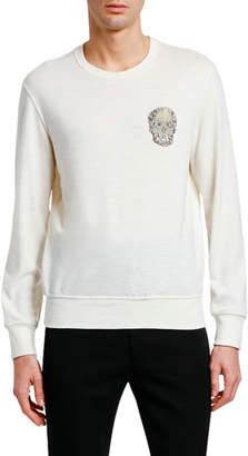 Alexander McQueen Men's Embellished Skull Crewneck Sweater