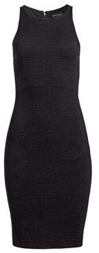 Emporio Armani Sleeveless Honeycomb Sheath Dress