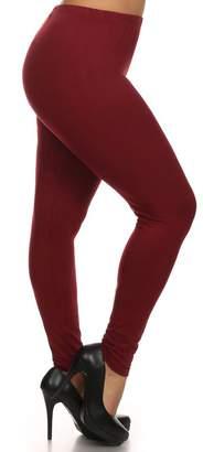 Always Women's Juniors Plus Size Solid Color Full Length Leggings