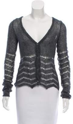 Antonio Berardi Knit Open-Knit Cardigan