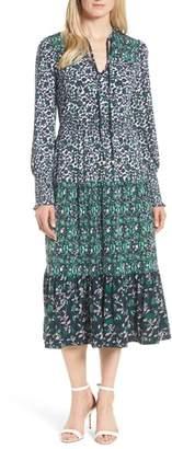 MICHAEL Michael Kors Triple Print Paisley Dress