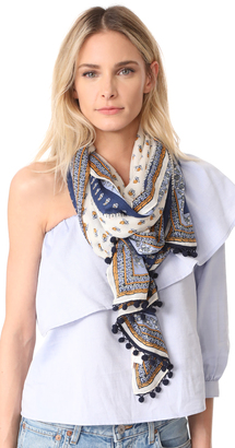 Tory Burch Mixed Oblong Scarf $198 thestylecure.com
