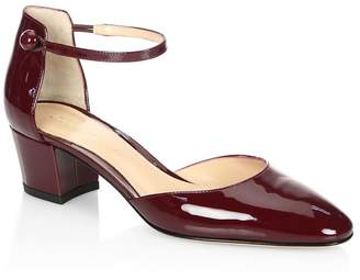 Gianvito Rossi Women's Patent Leather Mary Jane d'Orsay Pumps