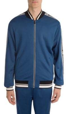 Dolce & Gabbana Cotton Logo Trim Track Jacket
