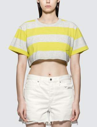 Alexander Wang Alexander Wang.T Wash & Go Wide Stripe Cropped Top