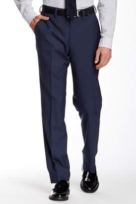 Louis Raphael Flat Front Merino Wool Trousers