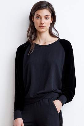 Velvet by Graham & Spencer WESTINE VELVET FLEECE RAGLAN TOP