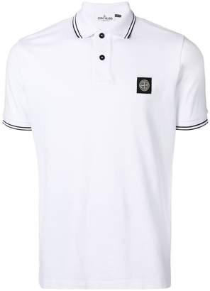 Stone Island logo short-sleeve polo top