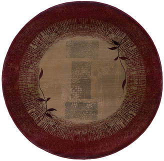 Oriental Weavers Round Area Rug, Generations 544X Shadow Vine 6'