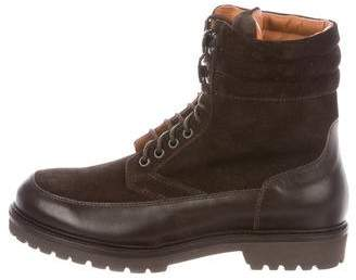 Barneys New York Barney's New York Suede Combat Boots w/ Tags