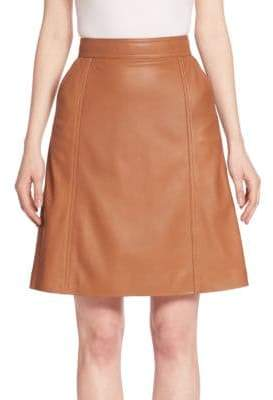 HUGO BOSS Sepai Leather A-Line Skirt