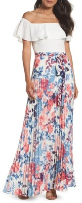 Women's Eliza J Off The Shoulder Maxi Dress $178 thestylecure.com