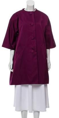 RED Valentino Satin Button-Up Jacket