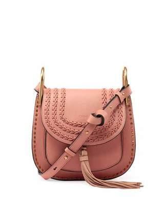 Chloe Hudson Tassel-Trim Leather Shoulder Bag, Rose